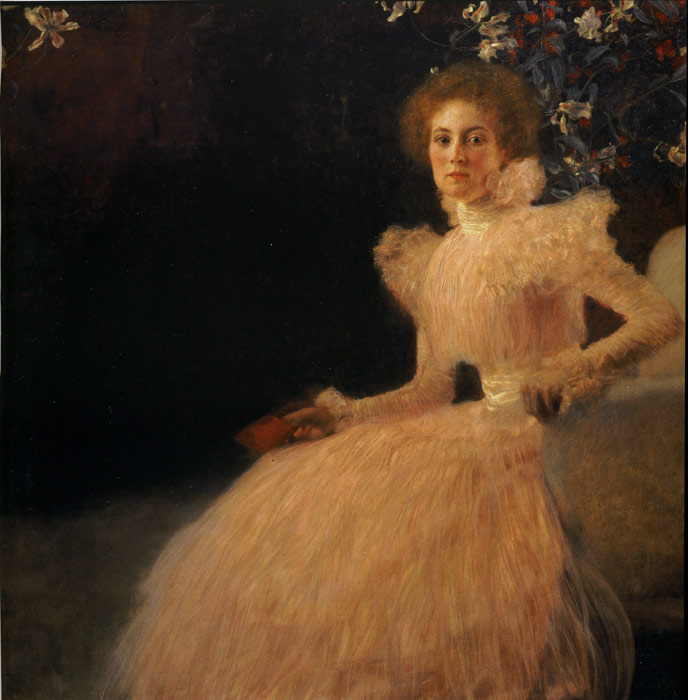 Gustave Klimt Reproductions-Portrait of Sonja Knips, 1898
