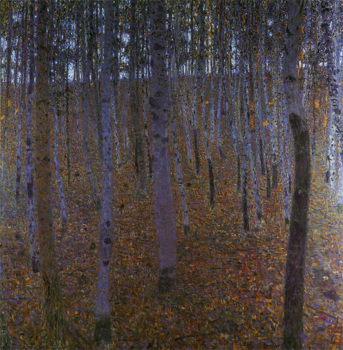 Gustave Klimt Reproductions-Beech Wood I, 1902