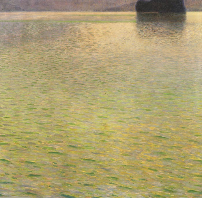 Gustave Klimt Reproductions-Island in the Attersee, 1901