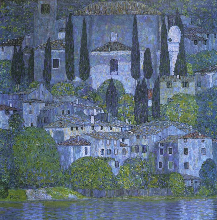 Gustave Klimt Reproductions-Church at Cassone, 1913