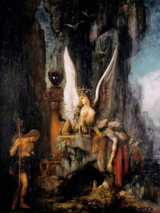 paintings reproductions moreau  gustave oedipus the wayfarer  c 1888