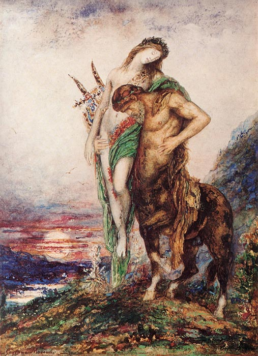 gustave moreau art reproductions  the dead poet borne by a centaur