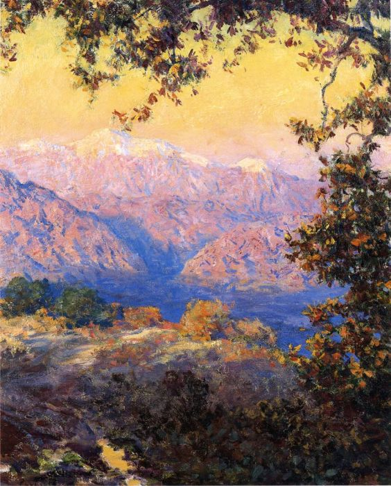 Paintings Reproductions Rose, Guy Sunset in the High Sierras