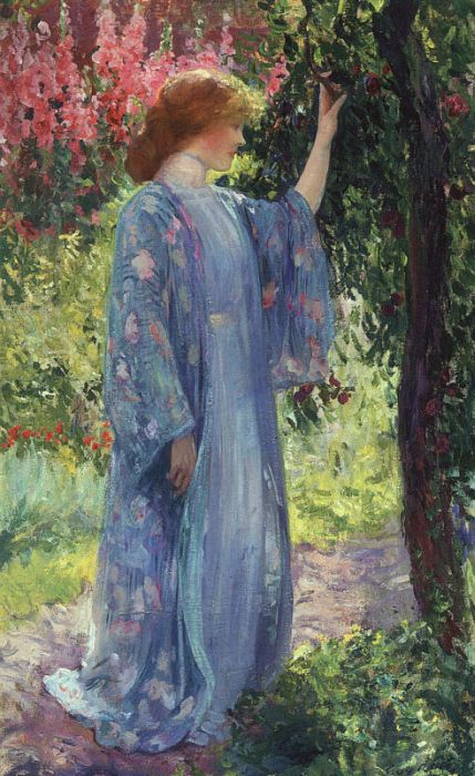 Paintings Reproductions Rose, Guy The Blue Kimono, 1909