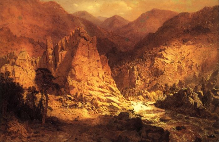 Paintings Reproductions Hamilton, Hamilton Headwaters of the Rio Grande, 1872