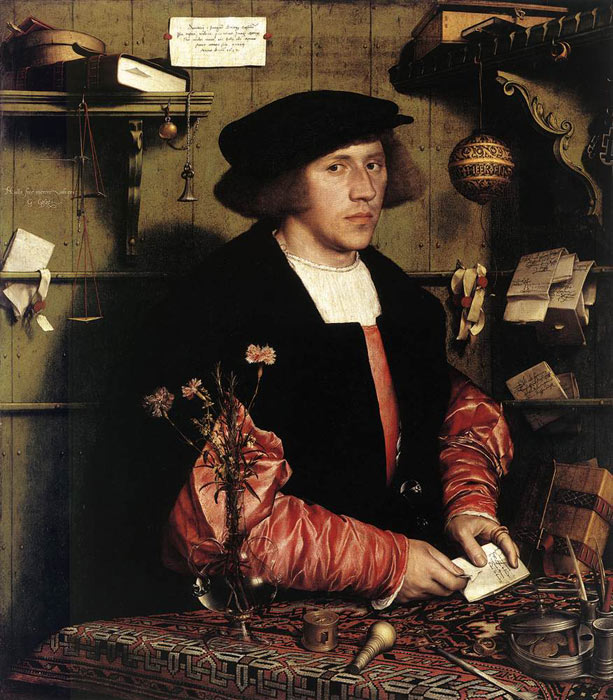 Paintings Reproductions Holbein, Hans /Younger/ Portrait of the Merchant Georg Gisze, 1532