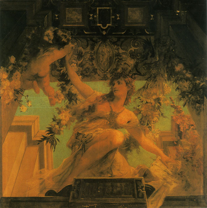 Hans Makart Reproductions-Sinnbild des frohlichen Lebensgenusses [Symbol of the Merry Life], 1884