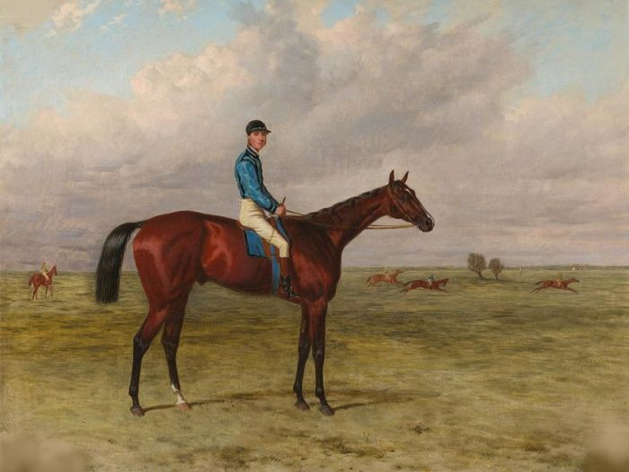 Harry Hall Reproductions-The Marquess of Hastings's bay colt Lecturer, 1867