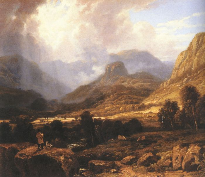 Landscape in the Lake District with the Vale of St. John between Thirlmere and Keswick Havell, William Painting Reproductions