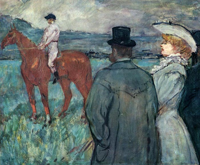 Henri de Toulouse- Lautrec Reproductions-At the Races, 1899