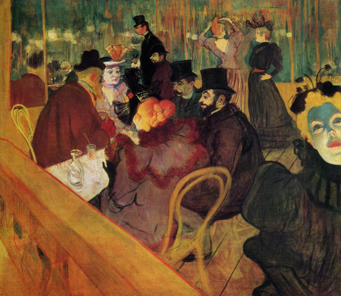 Henri de Toulouse- Lautrec Reproductions-At the Moulin Rouge , 1892