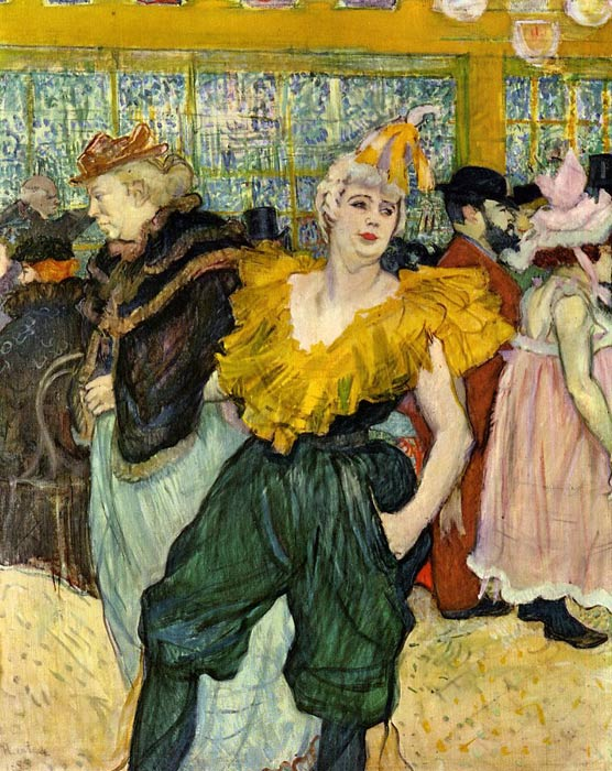 Henri de Toulouse- Lautrec Reproductions-At the Moulin Rouge: The Clowness Cha-U-Kao , 1895
