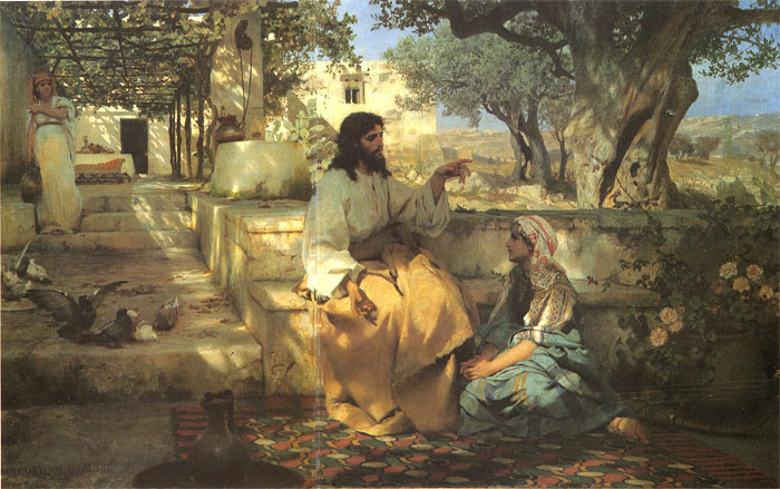 Henryk Hector Siemiradzki Reproductions-Christ in the House of Martha and Mary, 1886