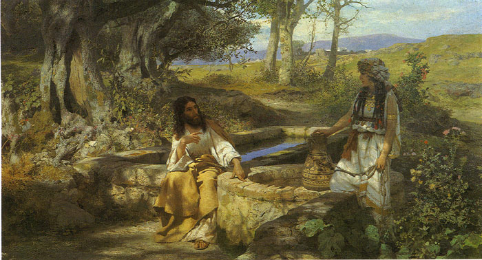Henryk Hector Siemiradzki Reproductions-Christ and the Samaritan Woman, 1890