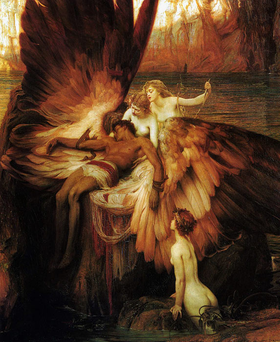 Paintings Reproductions Draper, Herbert James Lament for Icarus