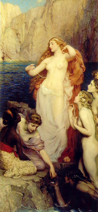 The Pearls of Aphrodite Draper, Herbert James Painting Reproductions