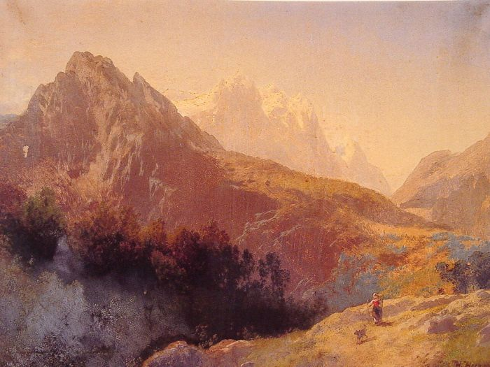 Paintings Reproductions Herzog, Herman In the Alps