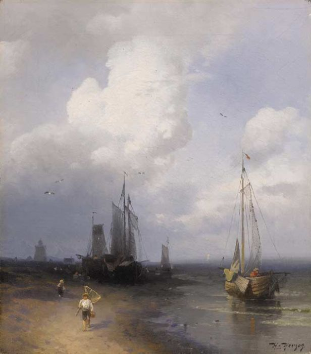 Herman Herzog Reproductions-Dutch Coastal Scene