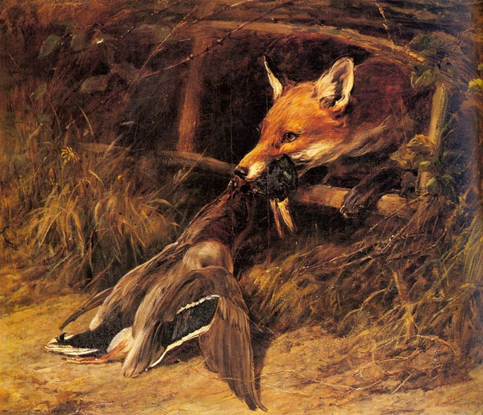 Heywood Hardy Reproductions-Returning to the Fox's  Lair
