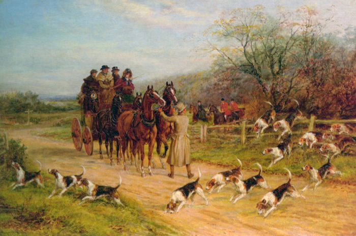Heywood Hardy Reproductions-Hounds First, Gentlemen, Hounds First