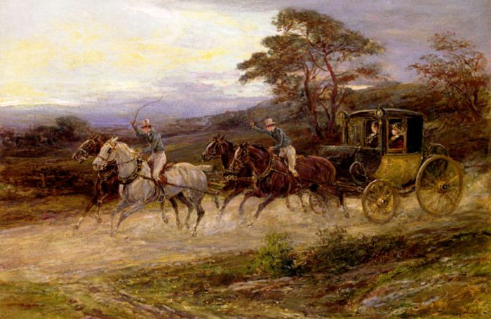 Heywood Hardy Reproductions-On The Road To Gretna Green