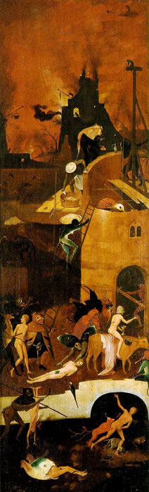 Hieronymus Bosch Reproductions-Haywain, right wing of the triptych, c.1485-1490