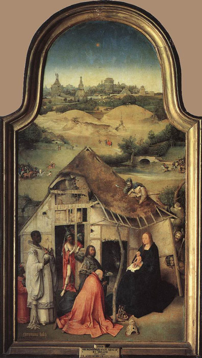 Hieronymus Bosch Reproductions-Adoration of the Magi, c.1510