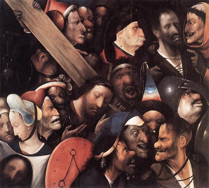 Hieronymus Bosch Reproductions-Christ Carrying the Cross, 1480