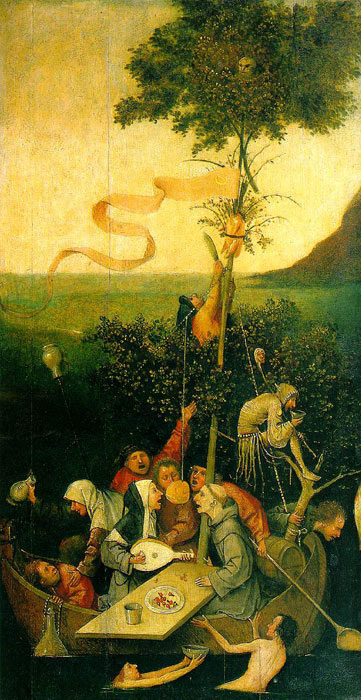 Hieronymus Bosch Reproductions-The Ship of Fools, 1490-1500