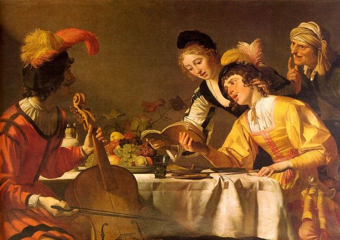 Paintings Reproductions Honthorst, Gerrit van  The Concert , 1625