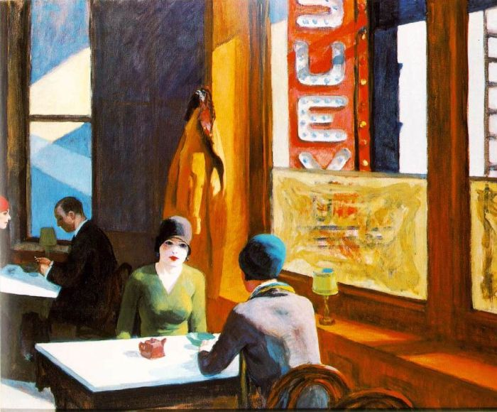 Paintings Reproductions Hopper, Edward Chop Suey, 1929