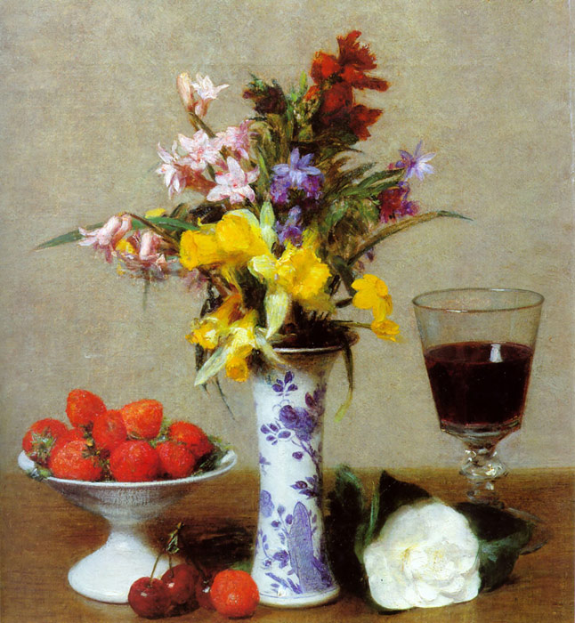Paintings Reproductions Fantin-Latour, Ignace-Henri- Theodore Still Life, 1904