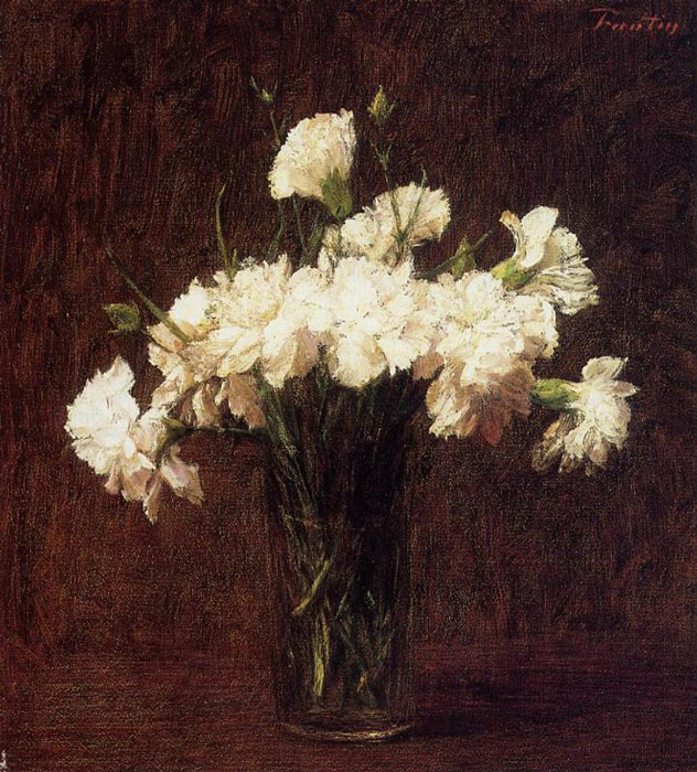 Fantin- Latour Reproductions-White Carnations, 1904