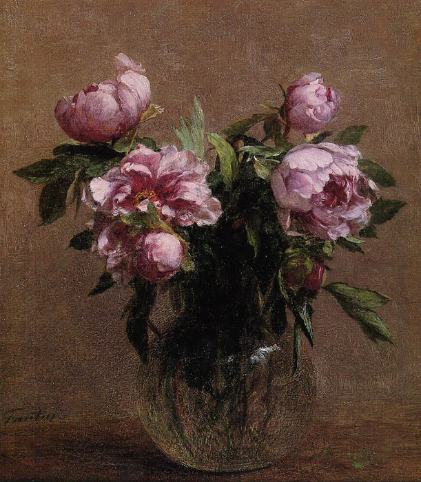 Fantin- Latour Reproductions-Vase of Peonies, 1902