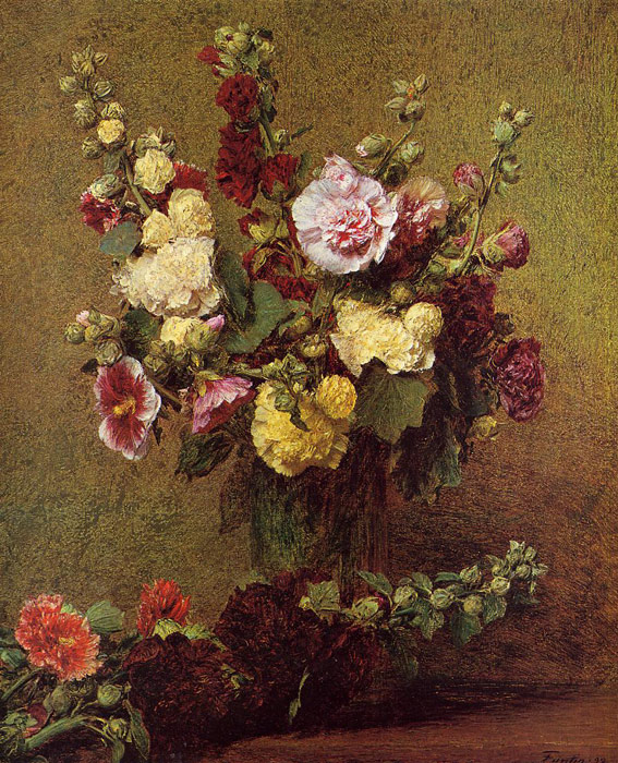 Fantin- Latour Reproductions-Holly-hocks, 1892