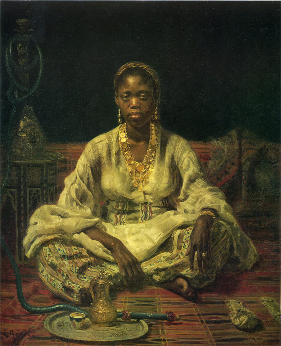 Iliya Efimovich Repin  Reproductions-Neger woman, 1876