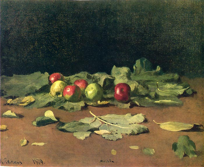 Iliya Efimovich Repin  Reproductions-Apples and Leaves, 1879