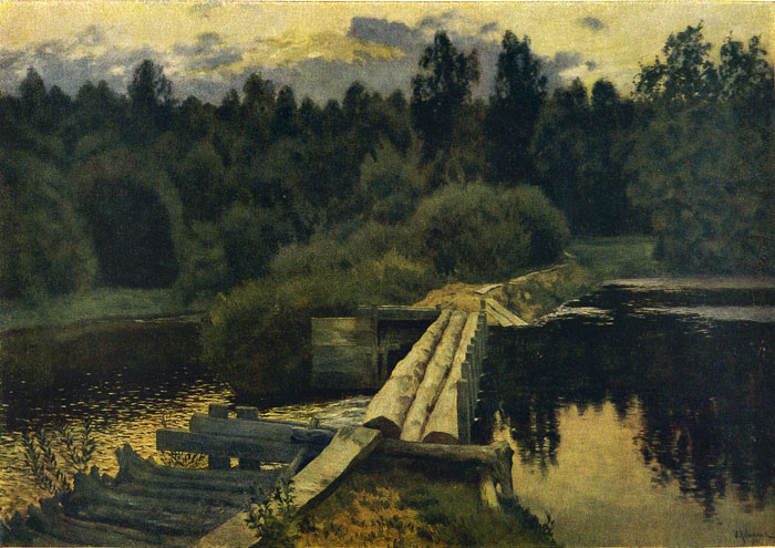 Isaac Ilyich Levitan Reproductions-Across the River, 1892