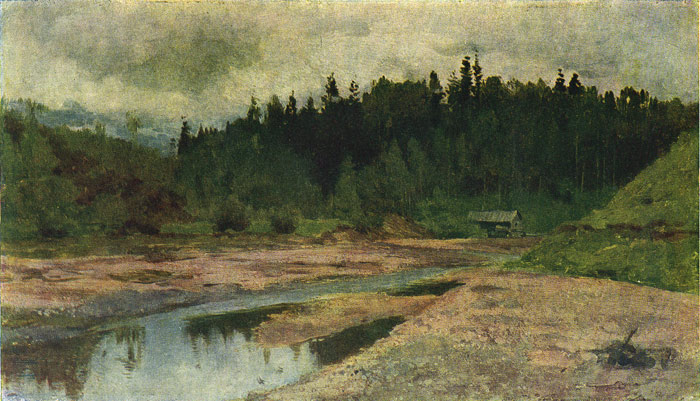Isaac Ilyich Levitan Reproductions-A Forest River, 1890