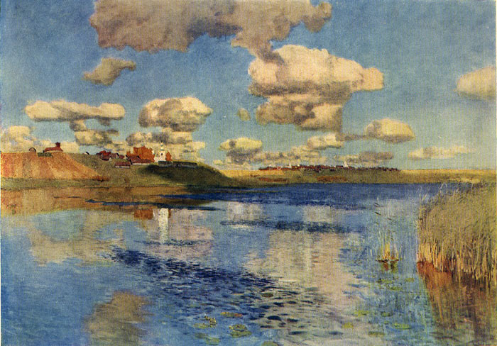 Isaac Ilyich Levitan Reproductions-A Sunny Day, 1900