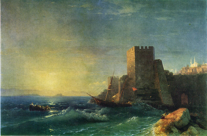Paintings Reproductions Aivazovsky,  Ivan Constantinovich The Coast of the Bosphorus, 1859