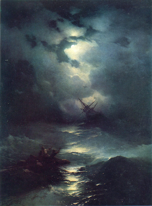 Famous Russian Painting Stormy Sea