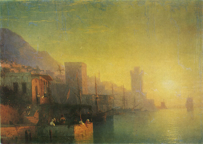 Paintings Reproductions Aivazovsky,  Ivan Constantinovich On the Island of Rhodes, 1861