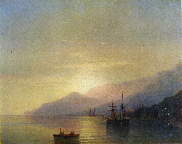Paintings Reproductions Aivazovsky,  Ivan Constantinovich Ships at Anchor, 1851