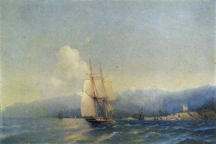 Paintings Reproductions Aivazovsky,  Ivan Constantinovich The Crimea, 1852