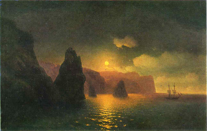 Paintings Reproductions Aivazovsky,  Ivan Constantinovich St. George's Monastery, 1846