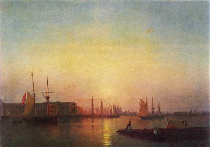 Paintings Reproductions Aivazovsky,  Ivan Constantinovich St. Petersburg Stock Exchange, 1847