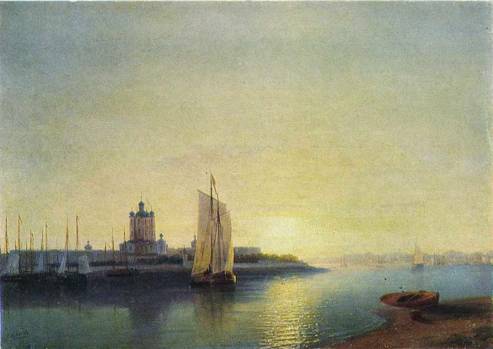 Ivan Aivazovsky Reproductions-The Smolny Convent, 1849
