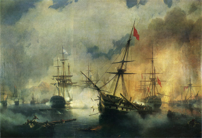 Ivan Aivazovsky Reproductions-The Battle of Navarino, 1846