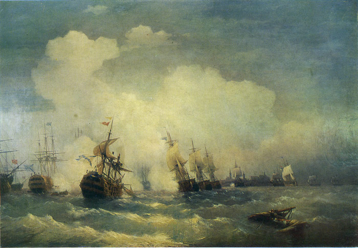 Ivan Aivazovsky Reproductions-The Battle of Revel, 1846